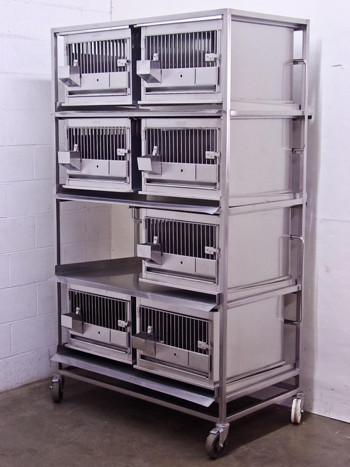 Lab Products Inc Stainless Steel  Modular Rabbit Small Animal Cage - 7 cages