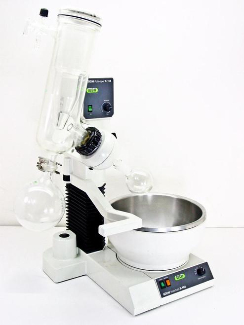 Buchi R-114   Rotovapor Evaporator w/ B-480 Heated Waterbath and Glassware