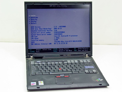 IBM 2378FZU  T42 1.7GHz Centrino, 512MB Ram, 40GB HDD