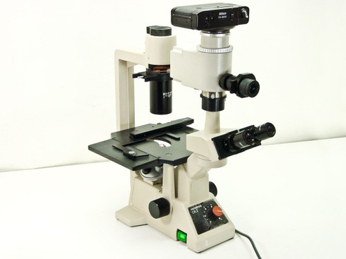 Olympus CK-2  Inverted Microscope Complete with X,Y Stage