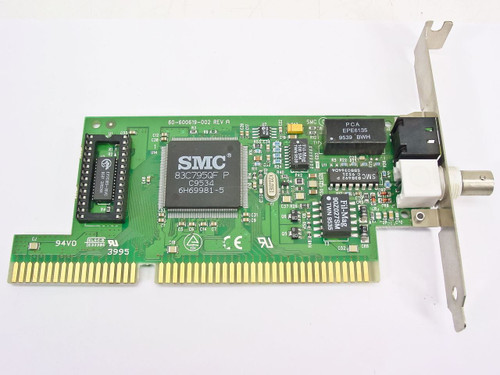 SMC 61-600619-010  8416BT ISA Card Coax 10BaseT Ethernet 61-600619-002 (Front Side)