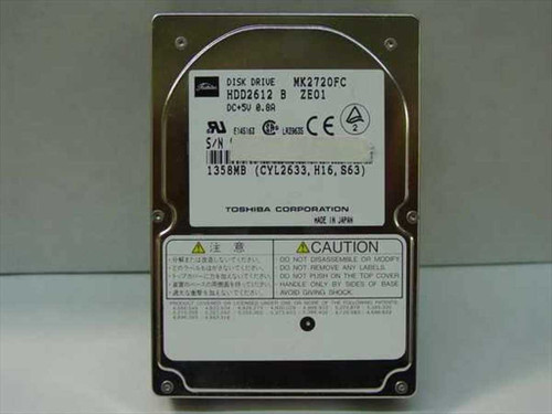 """Toshiba 1.3GB 2.5"""" 19MM Hard Drive (MK2720FC)"""