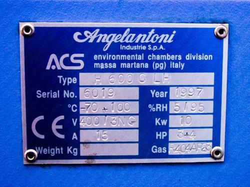 Angelantoni H600CLH  ACS Environmental Chamber -70 to 100 C