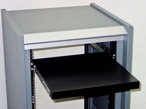 "Rackmount 20U  19"" Chassis with Sliding Shelf"