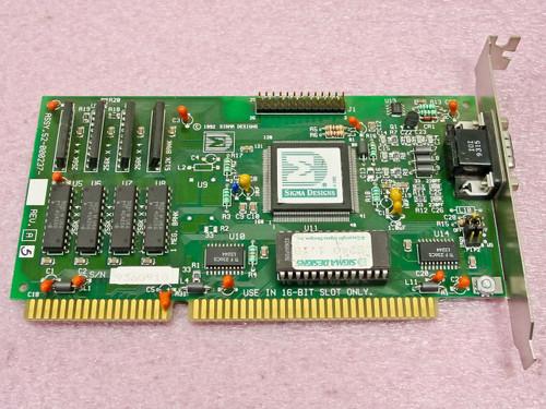 Sigma Designs  52-000237  ISA 15 Pin Video Card