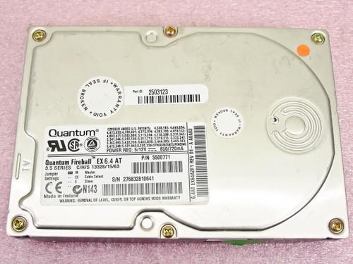 Quantum Fireball ST  EX 6.4 AT  3.5 Fireball ATA-33 HDD EX64A012