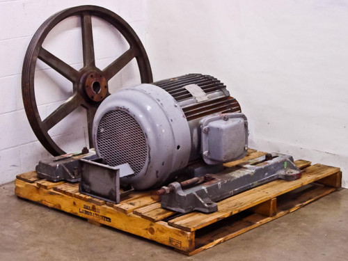 The Louis Allis Co. CEX  30 HP Electric Motor 230/460 Volt 3PH with Fly Wheel
