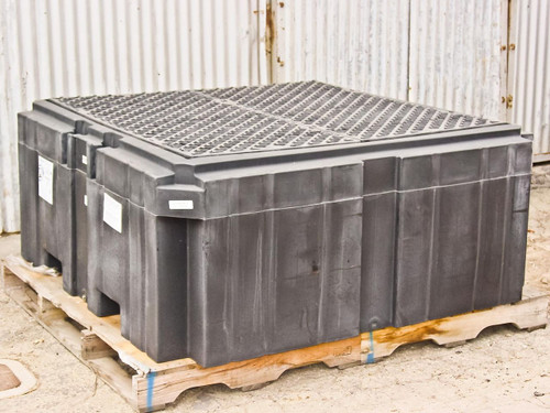 PIG PAK735-BK-WD  360 Gallon Sump Containment Unit with Drain