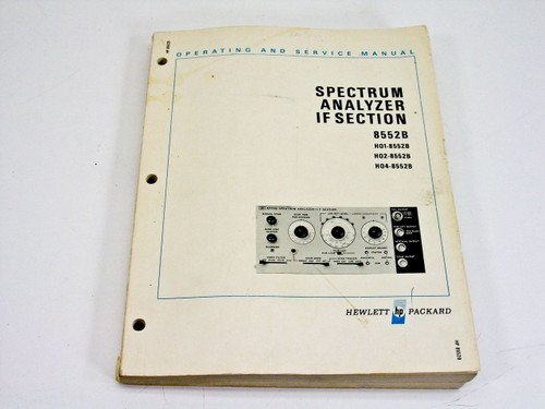 HP 8552B (Dec 1972)  Operating & Service Manual