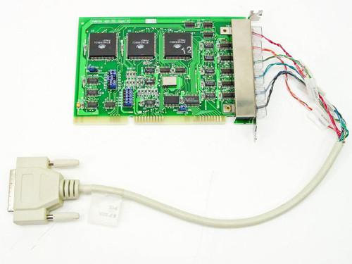 Computer PN4920  5195 6 Port Serial Card DB25 Connector
