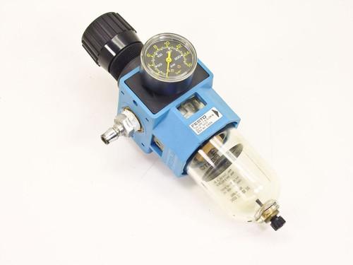 Festo LFR-1/2-S-5M-B  Compressed Air Filter / Regulator 200 PSI Max