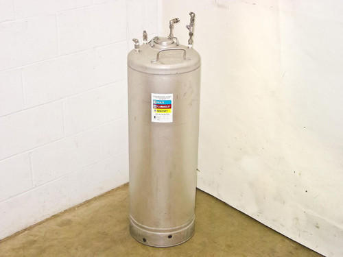 "UM Alloy Products Corp T316  42"" High Stainless Steel Pressure Vessel 17 Gallons"