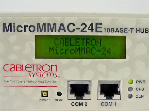 Cabletron MicroMMAC-24E  10BASE-T HUB with LANVIEW