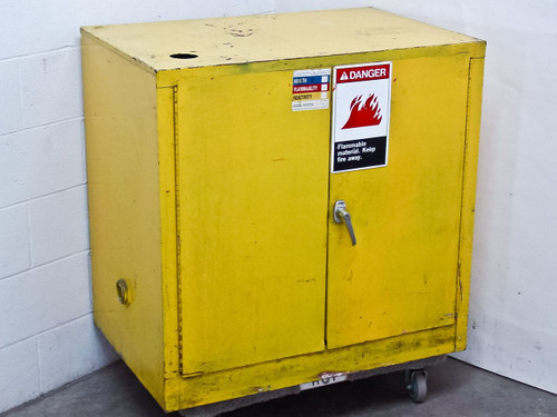 Generic 30 Gallon  Flammable Liquid Storage Cabinet - yellow