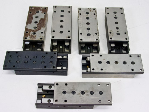 "Generic Linear guide   Positioning Slide w/ 1 3/16"" travel- lot of 7"