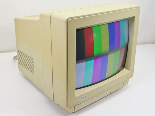 "CTX CMS-1461  14"" CRT VGA Monitor Yellowed"