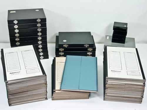 VWR Fisher Slide Holders  Lot of Microscope Slide Boxes and Cardboard Trays
