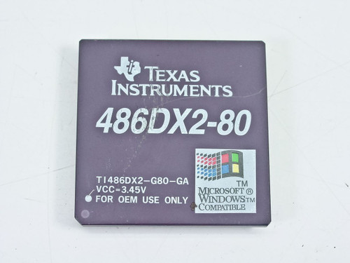 Texas Instruments  486DX2-80   80 Mhz. Bus 40 Mhz P/N TI-486DX2-G80-GA