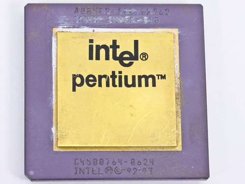 Intel SX962  Pentium 100 MHz Gold Faced Processor A80502-100