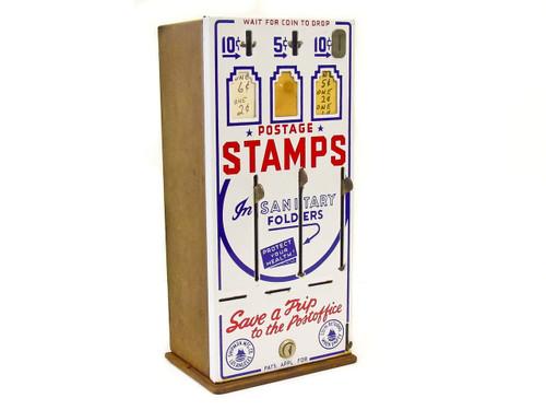 Shipman Manufacturing Co. Vintage  Three-Slot US Post Office Stamp Vending Machine