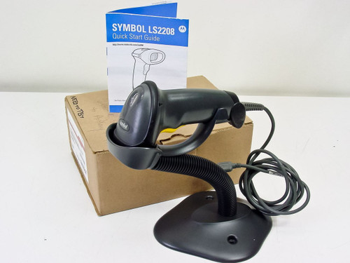 Symbol Technologies LS2208-SR20007  Barcode Scanner with USB Cable & Stand