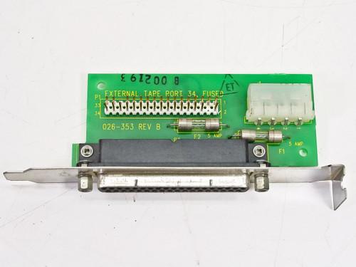 Colorado Memory Systems 026-353  External Tape Port 34 Card