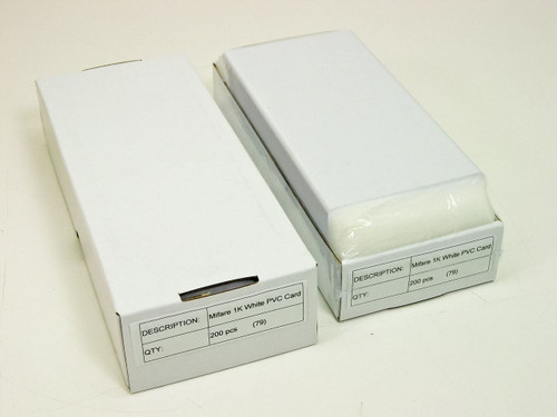 Mifare 1K  White PVC Card - 200 cards per box