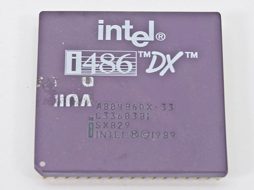 Intel SX829  i486DX/33 CPU A80486DX-33