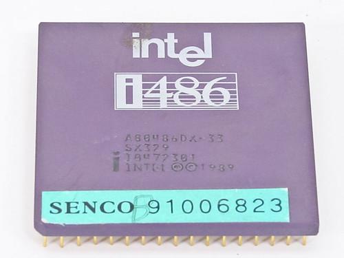 Intel SX329  i486DX/33 CPU A80486DX-33