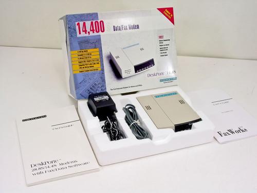 Microcom 103603006A  DeskPorte 14.4S 14,400 bps Modem Open Box