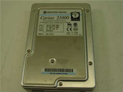 "Western Digital 1.0GB 3.5"" IDE Hard Drive (WDAC21000)"