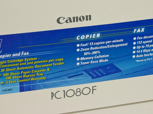 Canon  PC1080F  Digital personal copier and fax