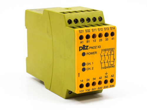 Pilz PNOZX3 4 Pole Safety Relay