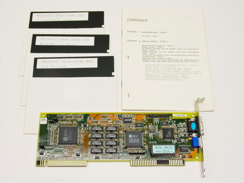 Western Digital WDC90C31  VLB Bus Video Card