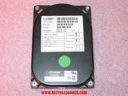 "Conner 420MB 3.5"" IDE Hard Drive (CFS420A)"