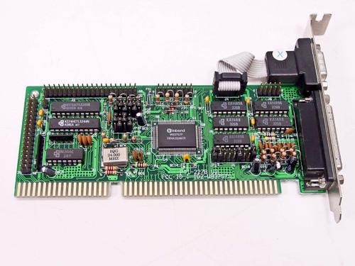 Winbond PT1-227B V2  I/O Board Vintage Serial Parallel 16-Bit ISA Card