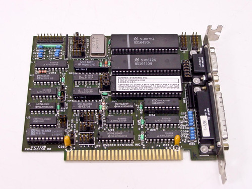 Everex  EV-170B  Serial Parallel I/O Card 8 Bit ISA