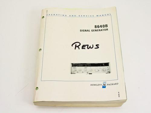 HP 08640-90111  8640B Signal Generator Operating & Service Manual