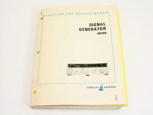 HP 08640-90017  8640B Signal Generator Operating & Service Manual