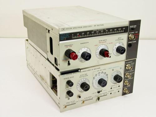 HP 8553B/ 8552B  Spectrum Analyzer RF / IF Sections Range 0-110 MHz
