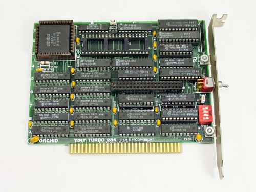 Orchid 286  Tiny Turbo 286 8 bit ISA upgrade card for 8088 CPU