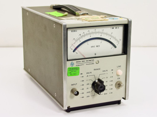 HP 3400A  RMS Volt Meter .001 to 300 Volts. (w/opt 1)