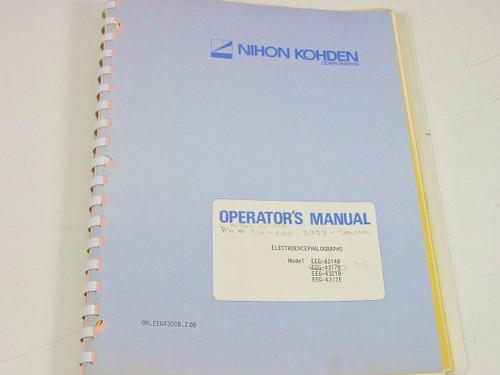 Nihon Kohden OM.EEG4300B.Z 06  Electroencephalograph Operator's Manual
