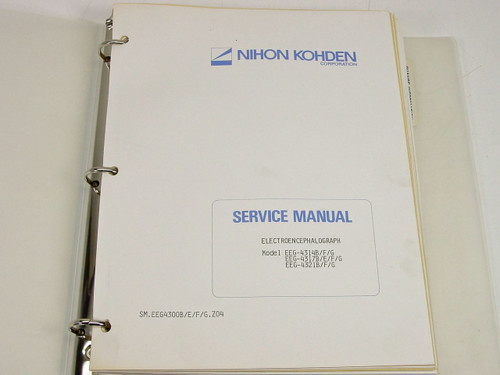 Nihon Kohden SM EEG4300B/E/F/G.Z04  Electroencephalograph Service Manual