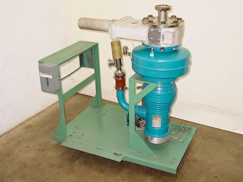 Airco Temescal 5030-R  Varianl 4' Diffuision Vacuum Pump Stand w Valve
