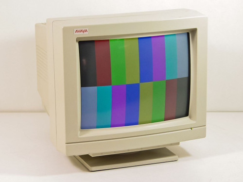 """AT&T / Avaya 3298-2242 A6  7134T 14"""" CRT Monitor - Crack in plastic"""
