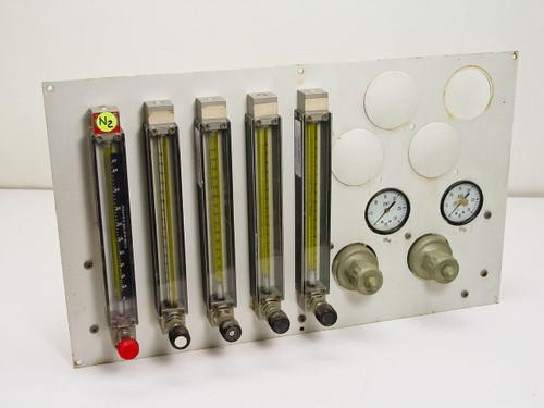 Brooks 1355-01F1AAS  Flow Meter Panel