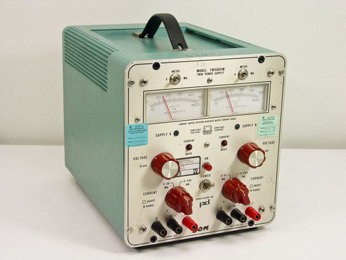 Power Designs Inc. TW5005W  Twin Power Supply 0-50 Volts DC 500 MA
