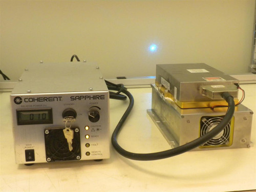Coherent Sapphire 488-200 CDRH  OPSL Blue Laser 200 mW Head with CDRH HP Power Sup
