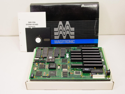 Magitronic Baby 286 MainBoard with AMD N80L286-12/S 12MHz CPU (EMS-9SB / B236D)